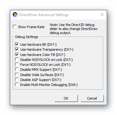 DirectDraw Advanced Settings