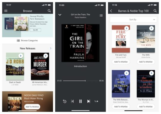 Nook Audiobooks app for iOS