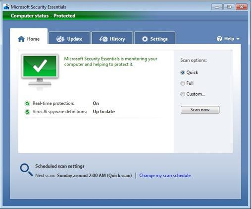 как удалить microsoft security essentials 4