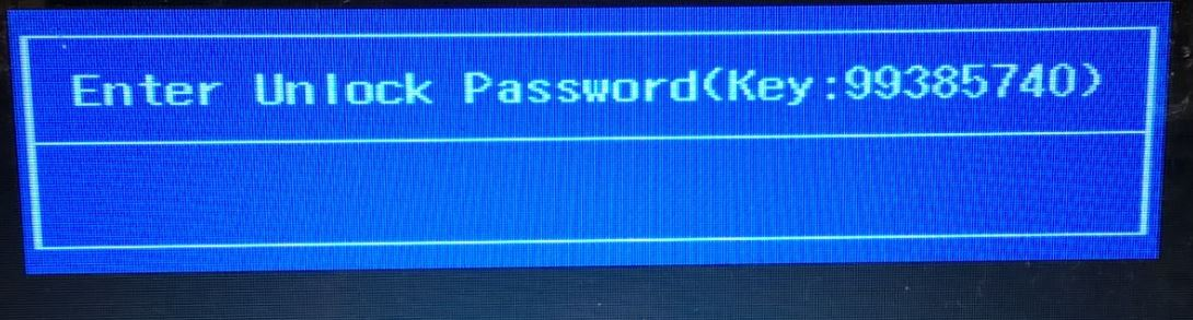 Unlock password key BIOS